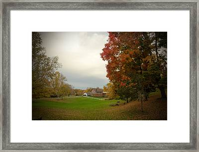 Autumn In Connecticut. Framed Print by Nestor m Montanez