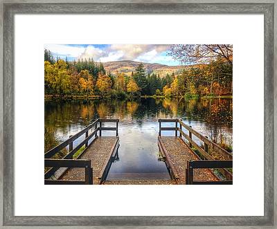 Autumn In Glencoe Lochan Framed Print by Dave Bowman