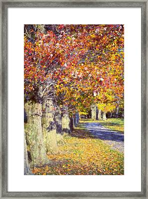 Autumn In Hyde Park Framed Print