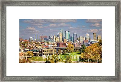 Autumn In Kansas City With Logo Framed Print