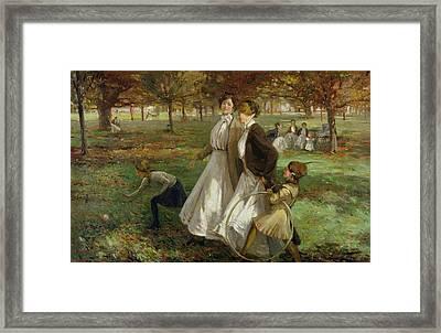 Autumn In Kensington Gardens Framed Print