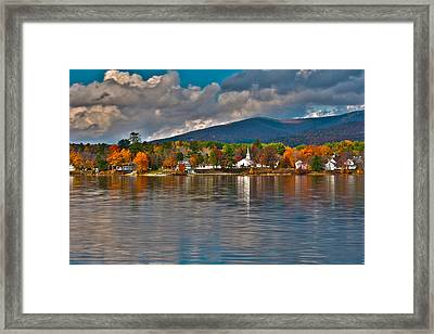 Autumn In Melvin Village Framed Print by Brenda Jacobs