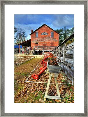 Autumn In Metamora Framed Print by Mel Steinhauer