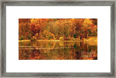 Autumn In Mirror Lake Framed Print