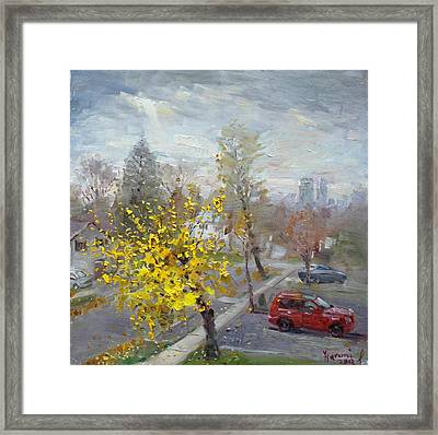 Autumn In Mississauga  Framed Print by Ylli Haruni