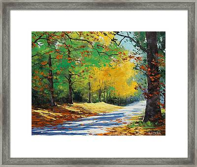 Autumn In Mt Wilson Framed Print by Graham Gercken