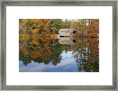 Autumn In New England Framed Print by John Babis