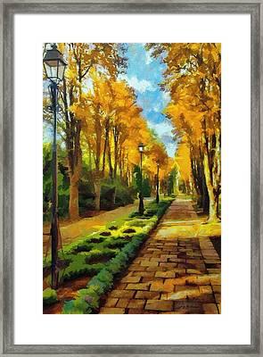 Autumn In Public Gardens Framed Print by Jeff Kolker