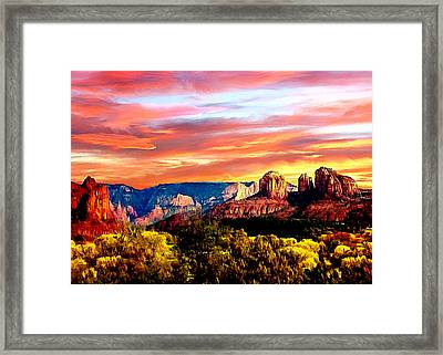 Autumn In Red Rock State Park Framed Print by Bob and Nadine Johnston