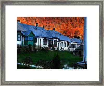 Autumn In Romania Framed Print