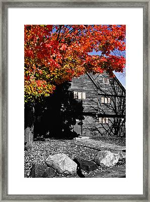 Autumn In Salem Framed Print