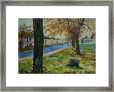 Autumn In South Road - Painting Framed Print by Veronica Rickard
