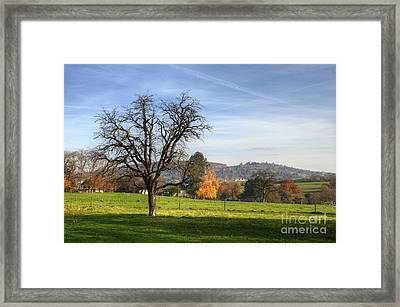Autumn In Swabia Framed Print by Richard Fairless