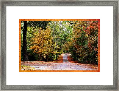 Autumn In Texas Framed Print by Judy Vincent