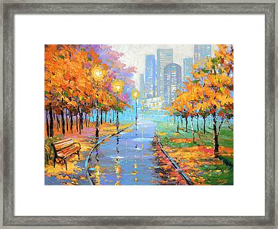 Autumn In The Big City Framed Print