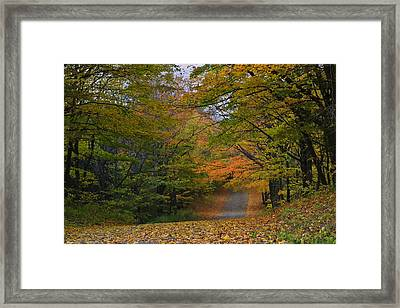 Autumn In The Caledon Hills Framed Print