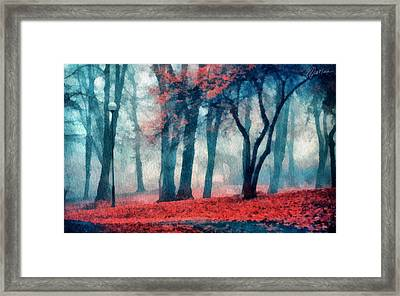 Autumn In The City Framed Print by Marina Likholat