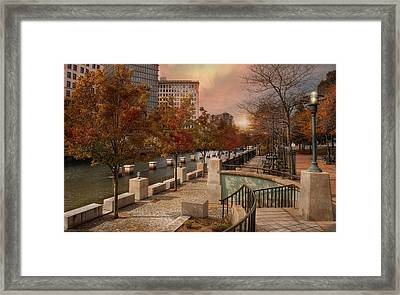 Autumn In The City Framed Print by Robin-Lee Vieira