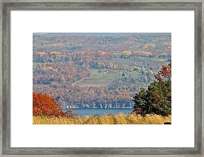 Autumn In The Finger Lakes Framed Print