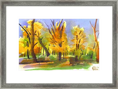 Autumn In The Forest Framed Print by Kip DeVore