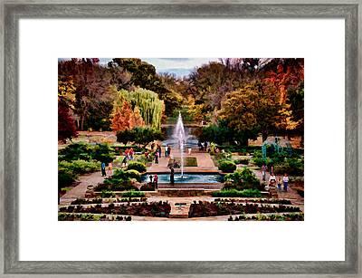 Autumn In The Gardens Framed Print