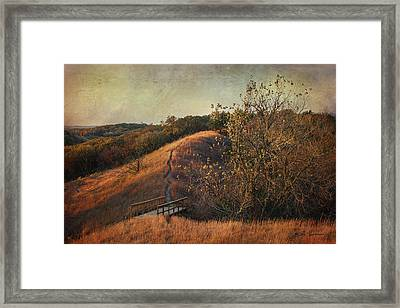 Autumn In The Loess Hills Framed Print by Jeff Swanson