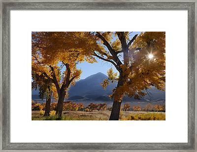 Autumn In The Mountains Framed Print by Andrew Soundarajan
