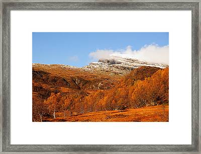 Autumn In The Mountains Framed Print by Gry Thunes