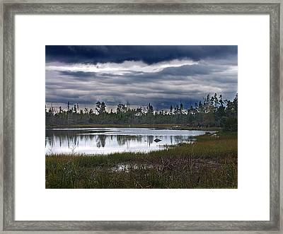 Autumn In The Salt Marshes Framed Print by George Cousins