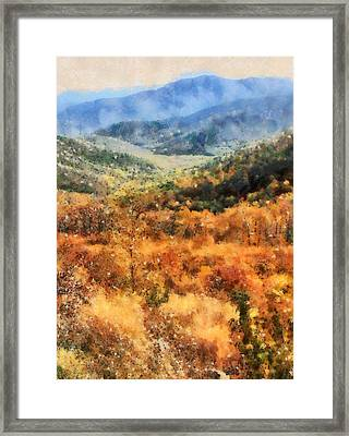 Autumn In The Shenandoah Valley Framed Print
