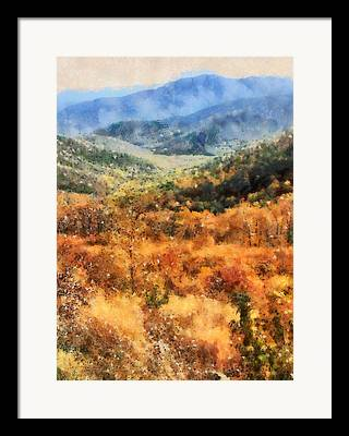 Colors Of Autumn Mixed Media Framed Prints