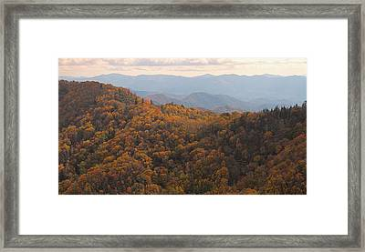 Autumn In The Smoky Mountains Framed Print by Dan Sproul