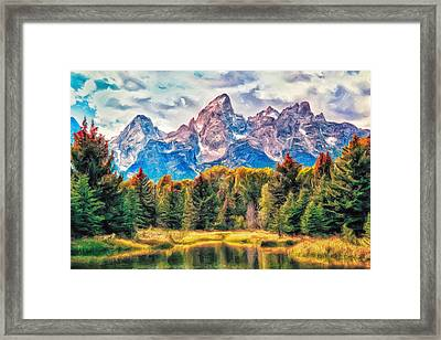 Autumn In The Tetons Framed Print