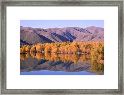 Autumn In Twizel. Nz Framed Print by Ian Mckendrick