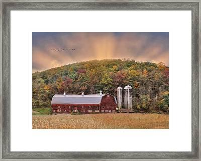 Autumn In Wellsboro Framed Print