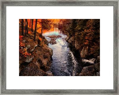Autumn In West Paris Framed Print