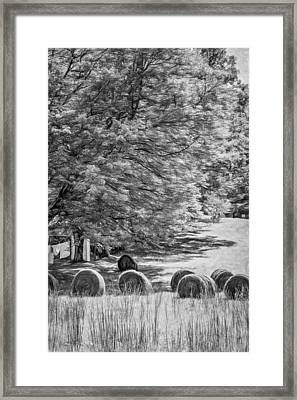 Autumn In West Virginia - Paint Bw Framed Print