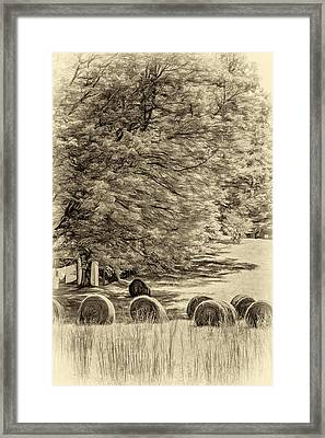 Autumn In West Virginia - Paint Sepia Framed Print