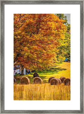 Autumn In West Virginia - Paint Framed Print by Steve Harrington