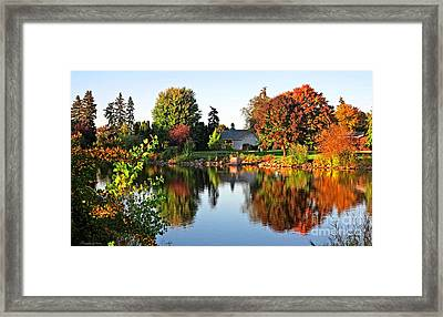 Autumn In Wisconsin Framed Print