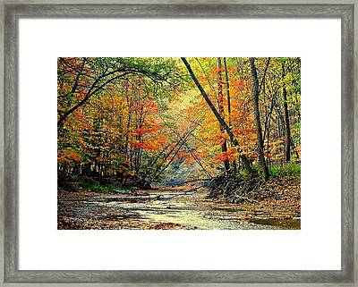 Autumn In Wonderland Framed Print by Frozen in Time Fine Art Photography