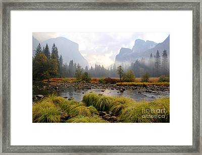 Autumn In Yosemite Valley Framed Print