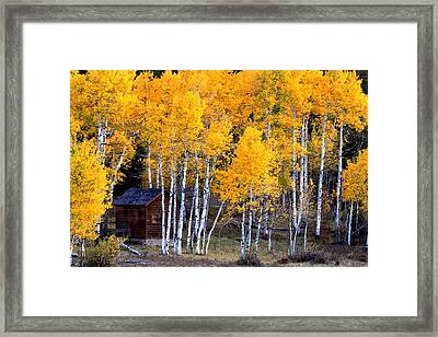 Autumn Inn Framed Print