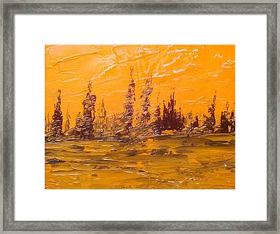 Autumn Inspired Sky Framed Print