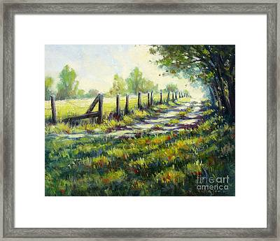 Autumn Is Coming Framed Print by Vickie Fears