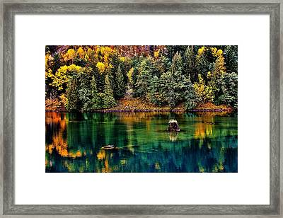 Autumn Jade Framed Print by Benjamin Yeager