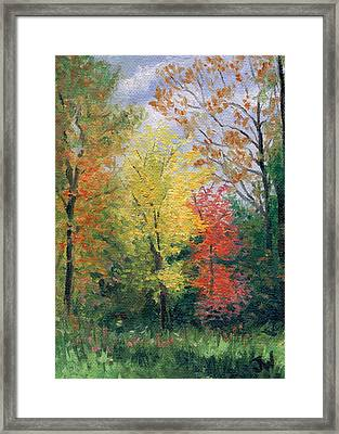 Framed Print featuring the painting Autumn by Joe Winkler