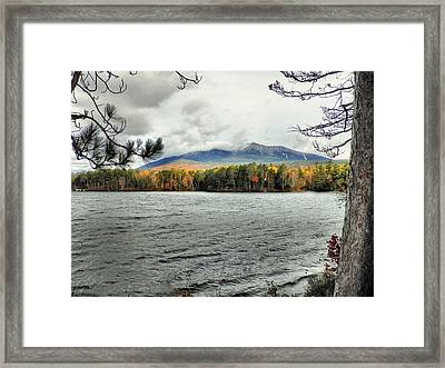 Framed Print featuring the photograph Autumn Katahdin by Gene Cyr