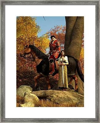 Autumn Knight Framed Print by Daniel Eskridge