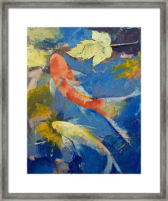 Autumn Koi Garden Framed Print by Michael Creese